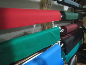 New Orleans pool table recovering table cloth colors