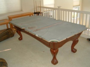 Proper pool table moving process in New Orleans Louisiana